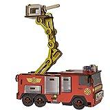 Unbekannt 3D Puzzle aus hochwertigem Holz Feuerwehrmann Sam und Jupiter Spielspaß ab 3 Jahren • Feuerwehr Motorik Kinder Spielzeug Bastelset