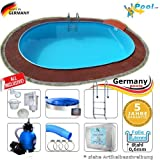 Schwimmbecken 5,30 x 3,20 x 1,20 Set Stahlwandpool Ovalpool Swimmingpool 5,3 x 3,2 x 1,2 Ovalbecken Stahlwandbecken Fertigpool oval Pool Sets Einbaupool Pools Gartenpool Einbaubecken Komplettset