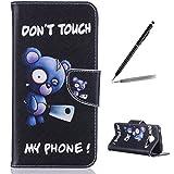 Trumpshop Smartphone Case Coque Housse Etui de Protection pour Samsung Galaxy A3 (2016) SM-A310 [Don't Touch My Phone (couteau)] Mode Portefeuille PU Cuir Avec Fonction Support Anti-Chocs