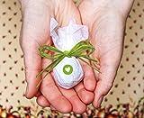 Seedball Gastgeschenk mit Herz, Apfel