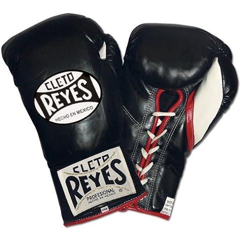 Cleto Reyes oficial Lucha Guantes de boxeo, color negro, 8-Ounce