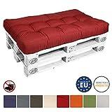 Beautissu Palettenkissen Eco Style Sitzkissen 120x80x15 cm Palettenauflage in Rot Palettenpolster mit Oeko-Tex