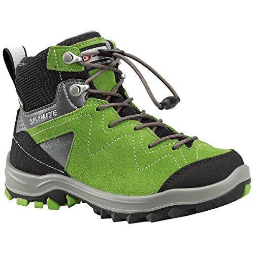 DOLOMITE - Scarpe da Trekking per Bambini Steinbock Kid GTX, Verde Acceso, 35