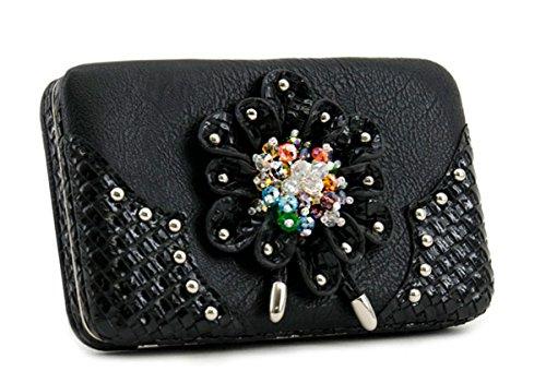 Blancho Bedding Womens Bag Set [carino] Cuoio elegante Portafoglio Hanbag Combo Fashion Bag borsa nera COMBO-BLACK