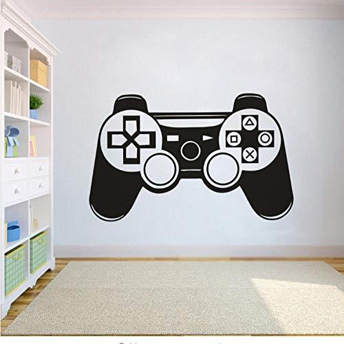 Game Controller Wandtattoo Vinyl Boy Zimmer Wand Poster Abnehmbarer Controller Wandaufkleber Wohnkultur 91x57 cm