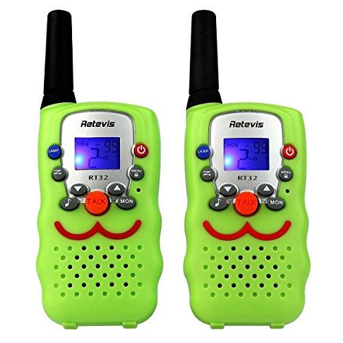 Retevis RT32 Walkie Talkie für Kinder mit LC-Display(2er-Set, Hellgrün)