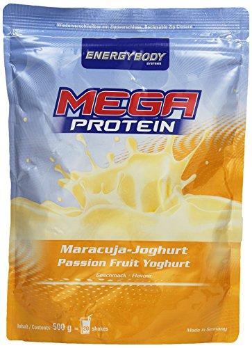 Energybody Mega Protein, Maracuja-Joghurt, 1er Pack (1 x 500 g Beutel)