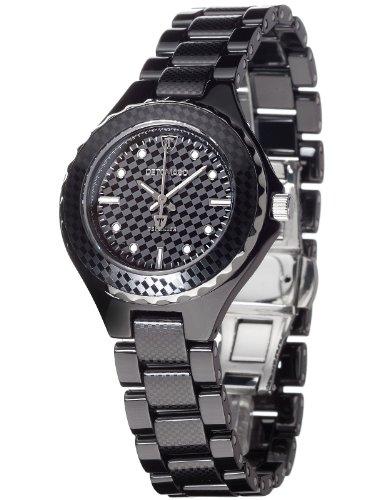 Detomaso Women's Quartz Watch FEDERICA Black DT3010-A Ladies DT3010-A with Metal Strap