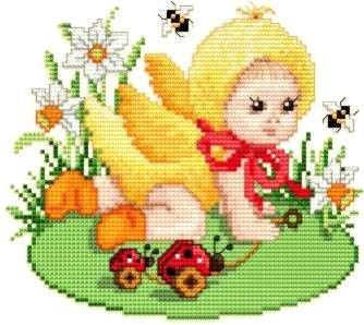 Baby Chicken Kostüm - Ellen Maurer-Stroh   Kreuzstichvorlage Stickvorlage - Spring - Chicken Baby