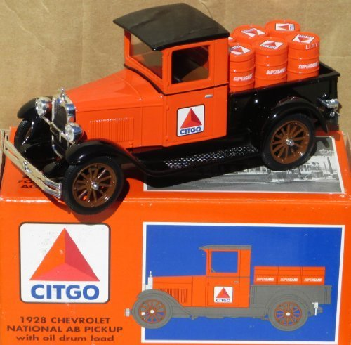 1997SpecCast Citgo 1928Chevy Nationaler ab Pickup Truck Bank w/Oil Drum Load in 1: 25Scale by Citgo (Chevy Truck 1997)