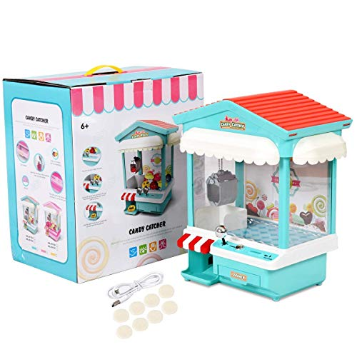 Mr.Fragile Candy Grabber Machine, Kids Traditionelles Spiel Für Das Messegelände Arcade Party Claw Mit Musik-Funktion Als Geschenk (Rosa, Blau),Blue