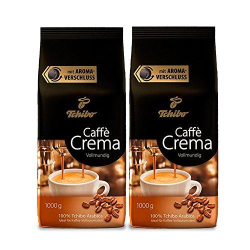 Tchibo Caffè Crema Vollmundig, 2kg ganze Bohne, Kaffee-Genuss für Vollautomaten, Siebträger