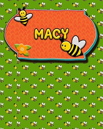 Handwriting Practice 120 Page Honey Bee Book Macy: Primary Grades Handwriting Book K-2