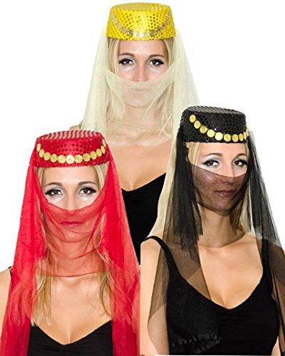 Chapeau oriental femme-Noir-