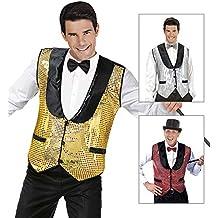 Shiny gold waistcoat for adults (accesorio de disfraz) , Modelos/colores Surtidos,