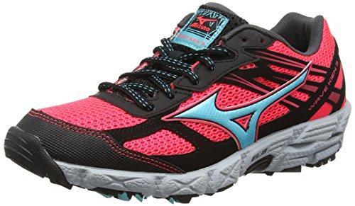 Mizuno Wave Kien 3 Zapatillas de running Mujer, Rosa (Fiery Coral/Capri/Black), 40