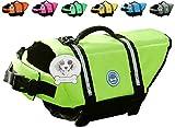 Vivaglory Hundeschwimmweste Doggy Float Coat Wassersport Schwimmhilfe Rettungsweste für Hunde Haustier Mit Griff und Reflektoren, Neon-Gelb, S