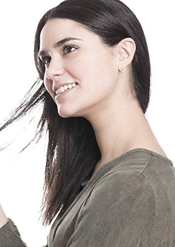 Happiness-Boutique-Damen-Offen-Kreis-Ohrstecker-Rosegold-Kleine-Runde-Ohrringe-aus-Titan-mit-Rosegold-berzogen-Minimalist-Design