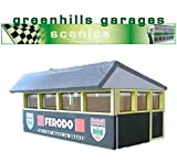 Greenhills Scalextric Slot Car Building Silverstone Press Box Kit 1:43 Scale
