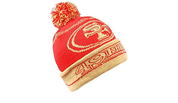 Forever Collectibles NFL San Francisco 49ers LED Pom Pom Knit Hat Red One Size
