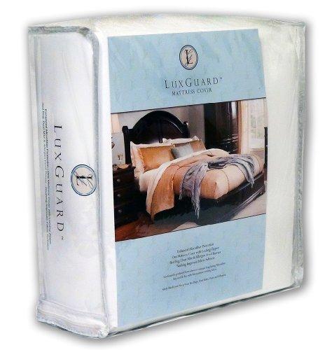 Eco Living Friendly Sleep Safe X luxguard Bettwanzen, Staub Milben, und allergensichere Matratze umgreifung/Allergy Protector Reißverschluss-Cover, Mikrofaser, weiß, Cal King 12