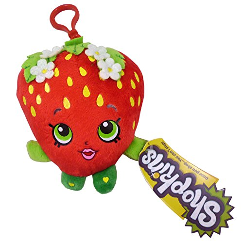 Shopkins Plush Bag Clip - Strawberry Kiss - Children's Accessories