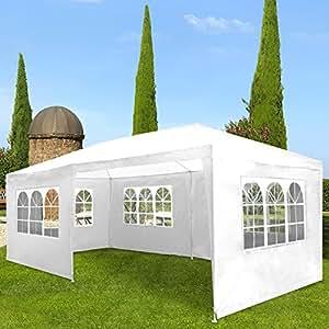 Miadomodo Marquee Tent Pavilion (3x6m) Waterproof Gazebo Patio Canopy Garden Shelter (White)