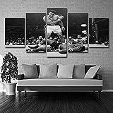 Maison modulaire Posters Décoration Sur Toile Mur Cadre En Toile Art Cadre 5 Panneau Boxe Salon Hd Imprimé Moderne Peinture 5p2425 Sans Cadre XL: 14X21-2P14X28-2P 14X35-1Ppouce