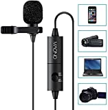 MAONO Lavalier Microphone, Hands Free Clip-on Lapel Mic with Omnidirectional Condenser for Camera,DSLR,iPhone,Android,Samsung,Sony,PC,Laptop (236 in)