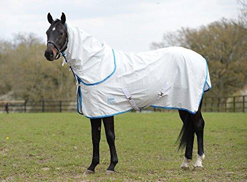 Kool Coat Lite Combo Neck Sheet 6ft9 White Blue -