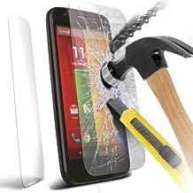 gaplus® Motorola Moto–Calidad Premium Protector de pantalla de cristal templado ultra fino ligero redondeado borde Dureza hasta 9H (más duro que un cuchillo)–Incluye Gamuza de microfibra, MOTOROLA MOTO G 3rd Gen. 2015