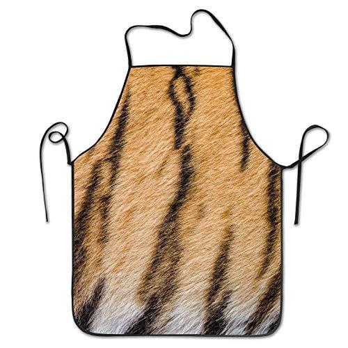 dhdhgdfj Schürzen Küchenschürze Tiger Stripes Deluxe Aprons Personalized Printing Kitchen Apron Pink Cooking Grilling Apron for Women Men Unisex Kids Waitress Chef Funny White Black Barber Premium Qu Pink Tiger Stripe