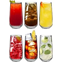 Argon Tableware 'Tallo' Water/Juice Hiball Glasses - Gift Box Of 6 Glasses - 480ml (16.9oz)