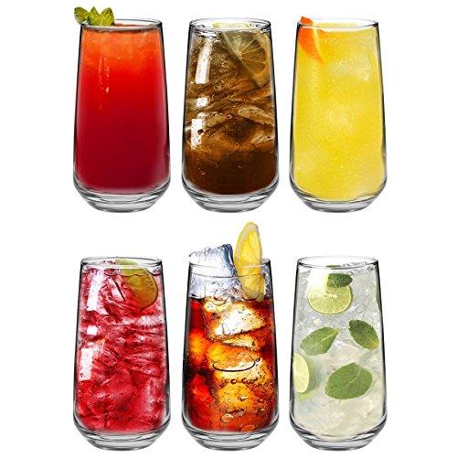 Tallo - Verre Highball pour eau/jus - coffret cadeau de 6 verres - 480 ml