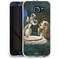 Samsung Galaxy S6 Silikon Hülle Case Schutzhülle Disney Susi & Strolch Fanartikel Merchandise