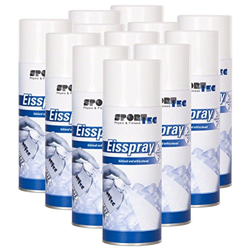 Sport-Tec 12 x Eisspray, 400 ml EIS Spray Kältespray Kühlspray Vereisungsspray Icespray
