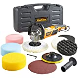 VonHaus 1200w Polisher Sander Machine Kit Sponges Orbit Buffer Pads Paper 8 Accessory