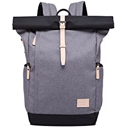 MUFUBU Presents Kaka Water Resistant Stylish Backpack for Both Men and Women with USB Charging Port - Grey