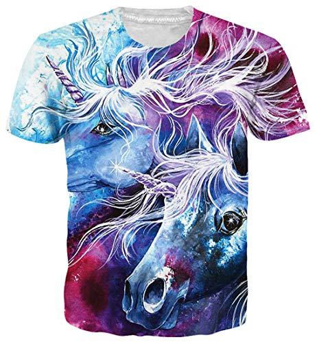 9dcb83c4 Goodstoworld Funny Unicorn Horse Impreso Camisetas Verano Personalizado  Round Neck Tshirt tee Tops para Hombre para