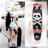 Qulista Cruiser Board 27 Zoll aus 9 schichte kanadischem Ahornholz mit ABEC-7 Kugellager viele Muster Skateboard für Jungen Mädchen Erwachse 71,5 x 19cm (5)
