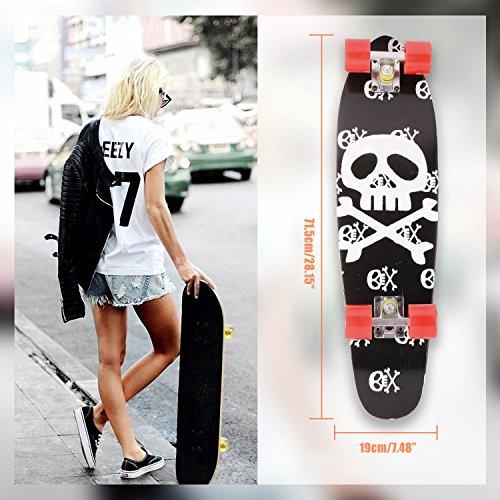 ser Style Skateboard Komplettboard, Holz Deck Skate Board für Erwachsene Kinder Jungen Mädchen ()