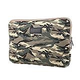 Stile Camouflage Tessuto di Tela Custodia Borsa Involucro Sleeve Case per Netbook/Laptop/Notebook/Computer Portatile/MacBook 15-15.6 Pollici,Army Green