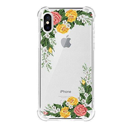 Zater iPhone X Hülle, Crystal Soft Schutzhülle Silikon Hülle Flexibel Kratzfest Bumper Case Ultradünn TPU Case Weich Handyhülle für Apple iPhone X Case Cover (1, iPhone X 5.8inch) 900 Soft Case