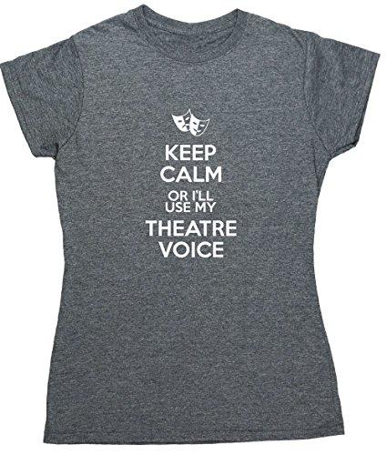 HippoWarehouse Damen T-Shirt Gr. Medium, grau meliert (Light T-shirt Damen Diva)