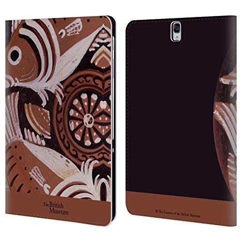 Head Case Designs Offizielle British Museum Vase Fisch Griechisch Bilder und Objekte Brieftasche Handyhülle aus Leder für Samsung Galaxy Tab S3 9.7