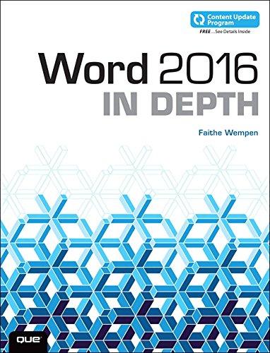 Word 2016 in Depth (Includes Content Update Program) por Faithe Wempen