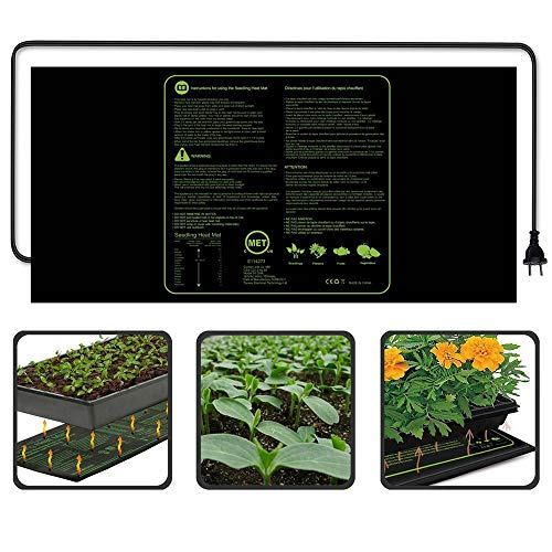 KOBWA Heizmatte CE(LVD&EMC) Listed Seedling Heizkissen 122X50,8cm 100Watt für Pflanzen Homebrewing Pet Gehäuse Terrarien -