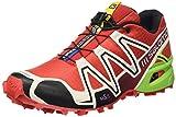 Salomon Speedcross 3, Scarpe da Trail Running Uomo, Rosso (Rojo (Radiant Red/Light Grey-/Granny Gre)), 45 1/3 EU