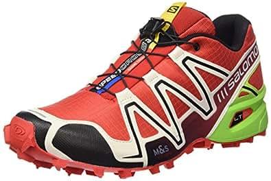 Salomon Herren Trail Running Schuhe Speedcross 3 Radiant Red/Light Grey/Green 40 2/3