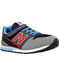 New Balance - Zapatillas de Piel para niño Azul Blue/Grey/Red